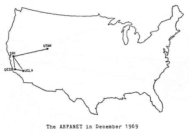 1969 – Primera red de computadoras