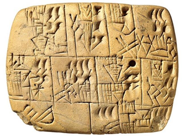 3500 a.C. – Escritura Pictográfica