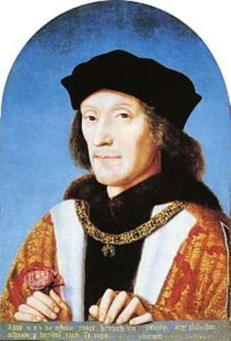 Henry VIII succeeds his father, Henry VII, for the English crown.