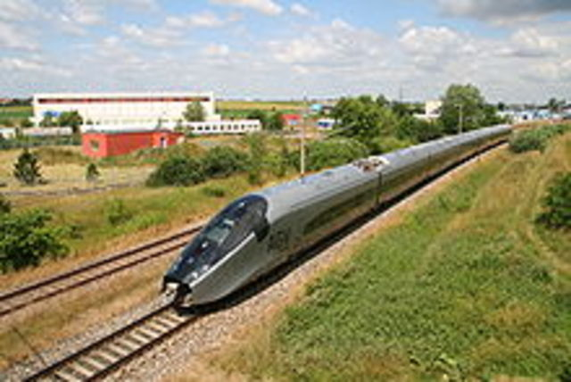 High speed trains travelling at 350 km/h is introduced in Spain.