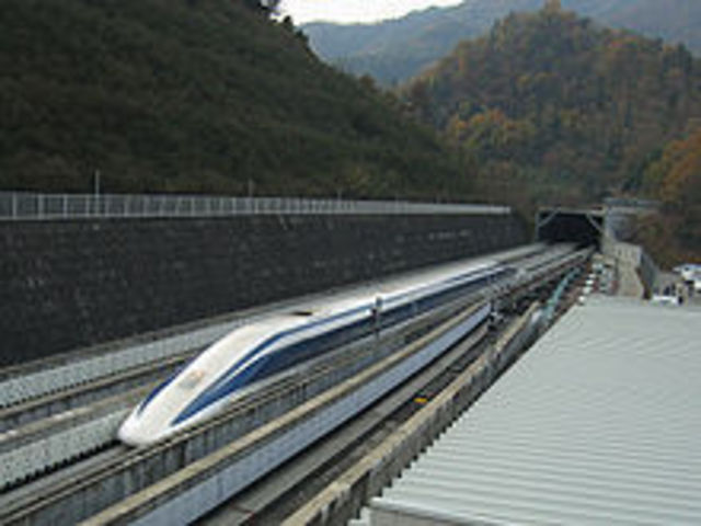 Maglev (derived from magnetic levitation), Reaches Speed Of 581 kph