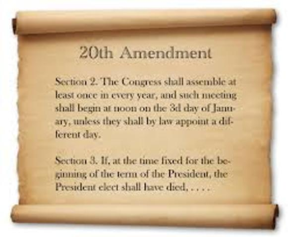 The 20th amendment