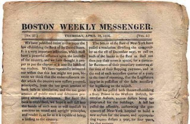 nace el periodico weekly messenger