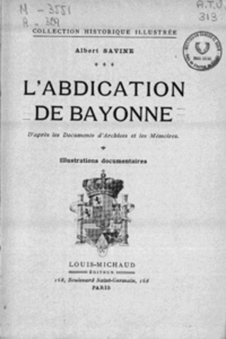 (2)Abdications of Bayonne