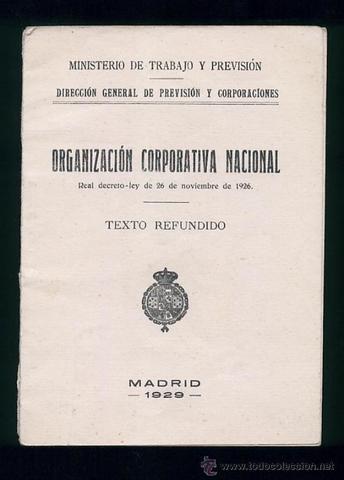 Creación de la Organización Corporativa del Trabajo