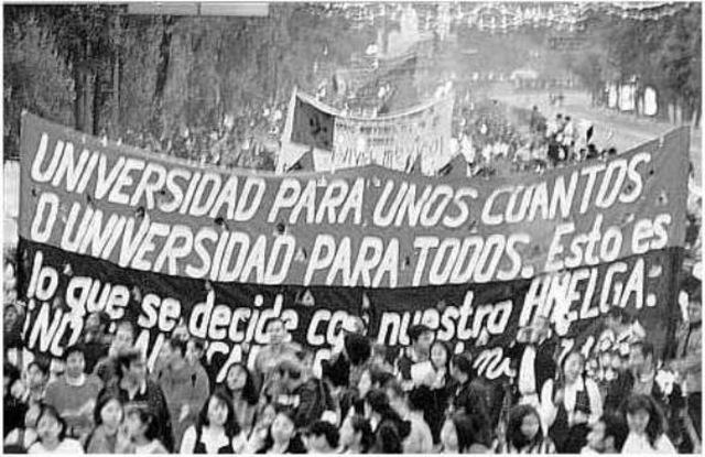 LA HUELGA UNIVERSITARIA 1999