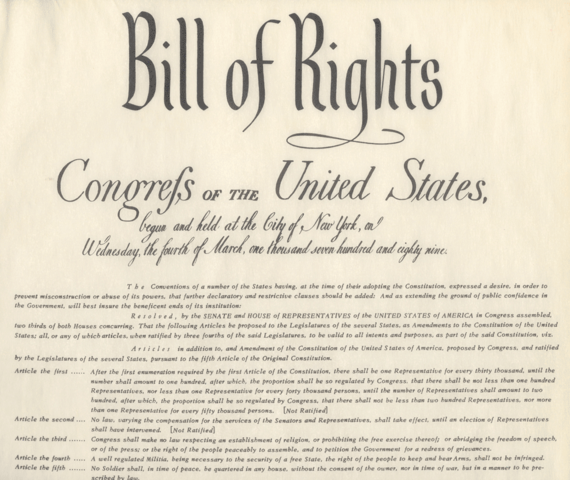 English Bill of rights Established