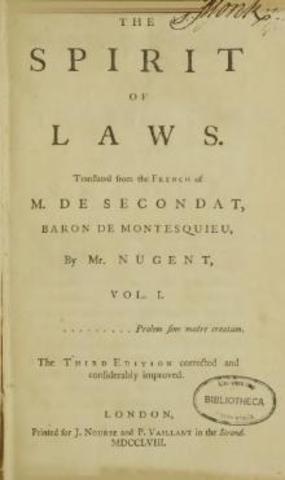 Baron De Montesque- On The Spirit of Laws