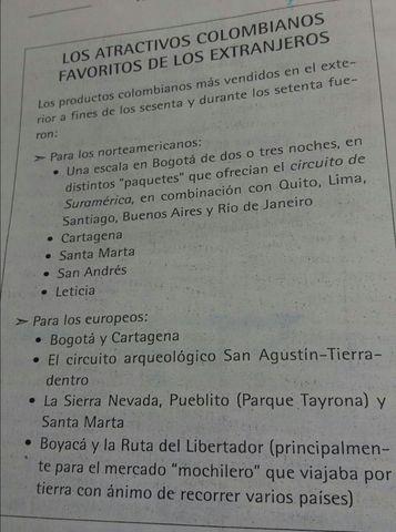 LOA ATRACTIVOS COLOMBIANOS FAVORITOS DE LOS EXTRANJEROS.