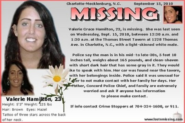 Valerie Hamilton goes missing