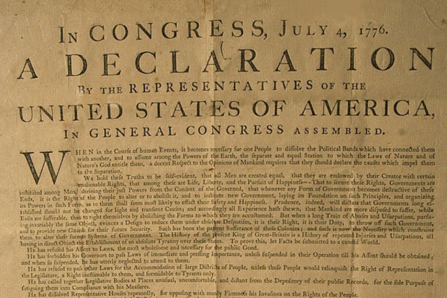 (2) The Independence of the United States