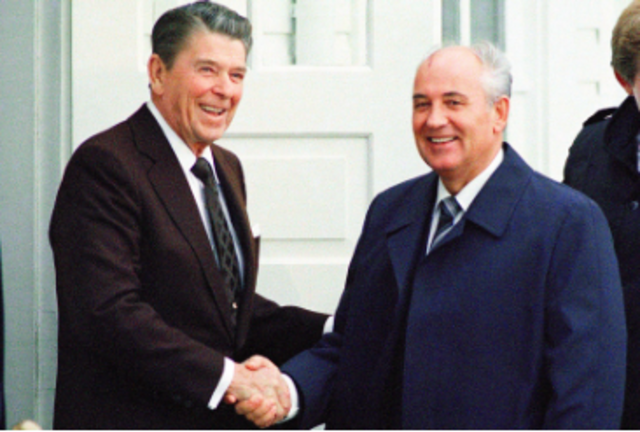 President Reagan and Mikhail Gorbachev Work to Remove All Nuclear Missiles