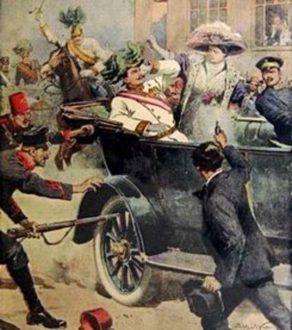 Asesinato del archiduque austriaco y de su esposa