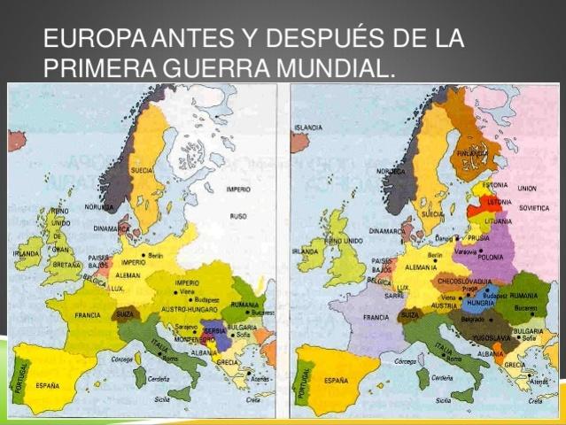 Los cambios territoriales