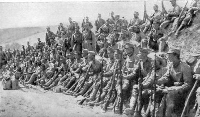 el Imperio Astro- hungaro se declara en guerra contra sebria
