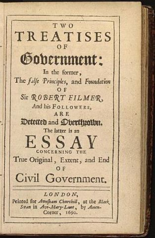 John Locke two treaties of government published in Europe