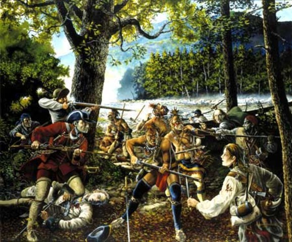 First Battle of the French and Indian War at Fort Necessity