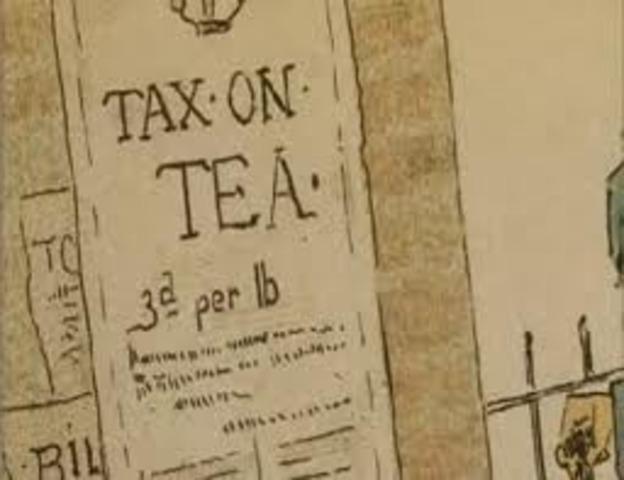 Parliament passes the tea act