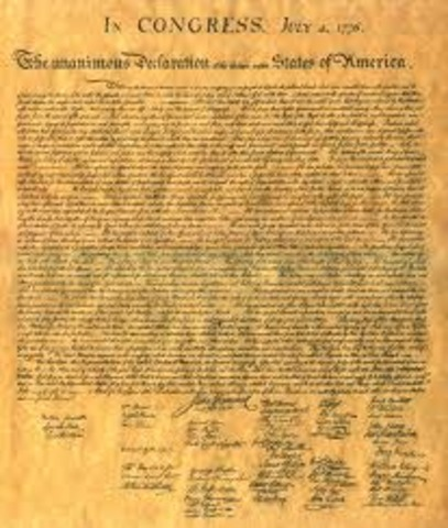 Declaration of Independence Proposed