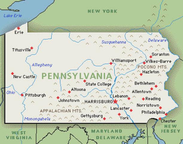 Pennsylvania Founded