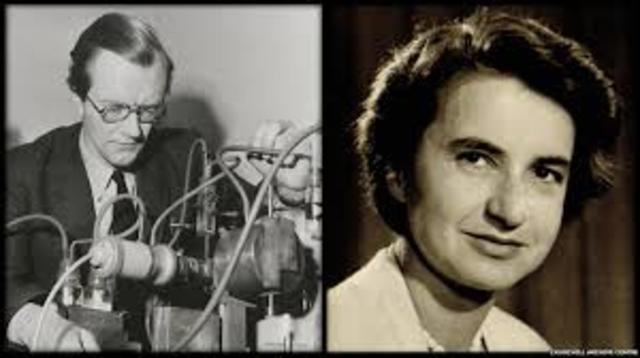Rosalind Franklin y Maurice Wilkins