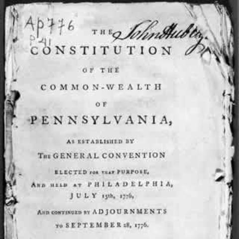 First State Constitutions Drafted