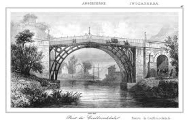 Inaguración primer puente construido por hierro.