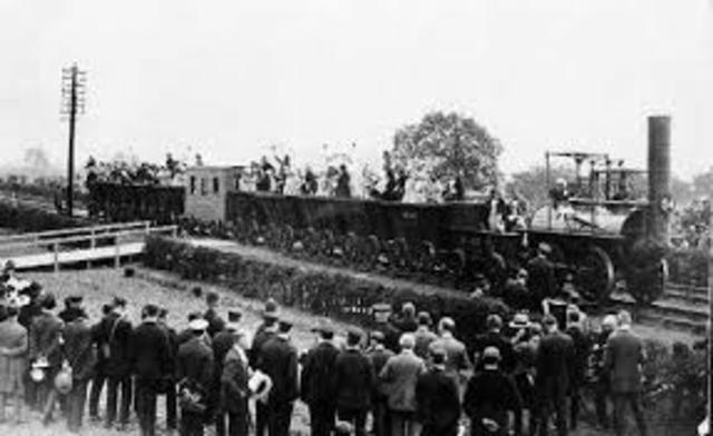 Primera vía ferroviaria en Inglaterra.