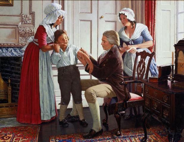 Edward Jenner prueba por primera vez la vacuna contra la viruela.
