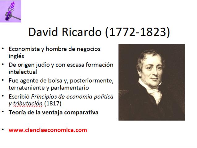1817 David Ricardo (1792-1823)