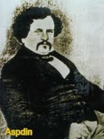 Joseph Aspdin patenta el cemento de Pórtland.