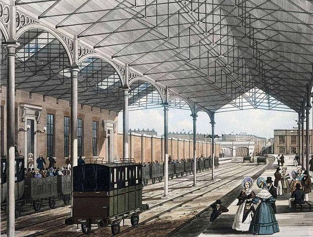Inglaterra cuenta con la primera línea ferroviaria.
