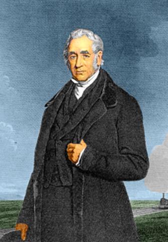 Aparición de la locomotora por George Stephenson.