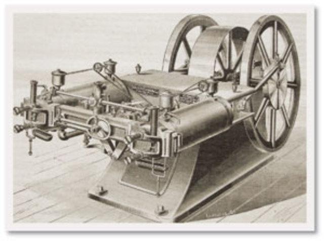 Nikolaus Otto construye el primer motor de combustión interna de cuatro  tiempos.