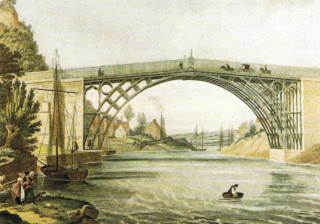 Inauguración del primer puente construido de hierro