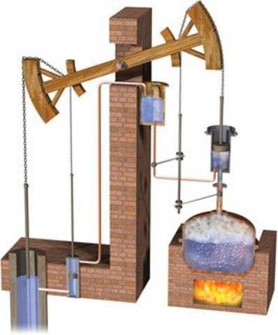 Invención máquina de vapor atmosférica