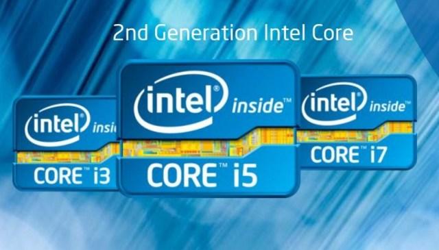 Microprocesadores intel Core Segunda generación