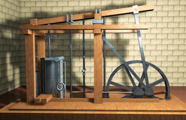 Motor a vapor (máquina de vapor).
