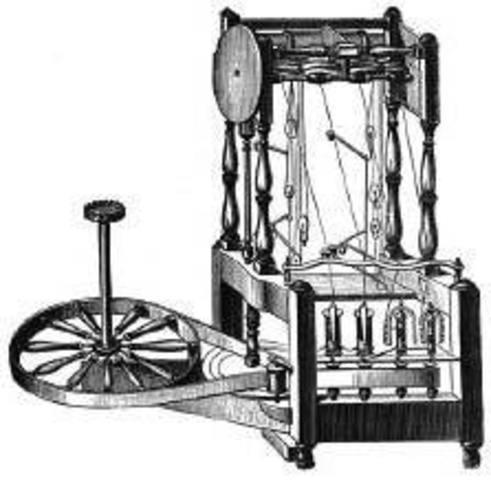 Creación del telar mecánico por Edmund Cartwright