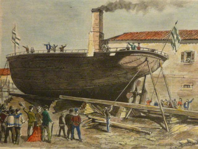Primer barco construido en hierro es fabricado.