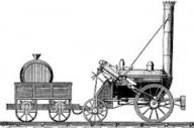 Aparición de la locomotora por George Stephenson