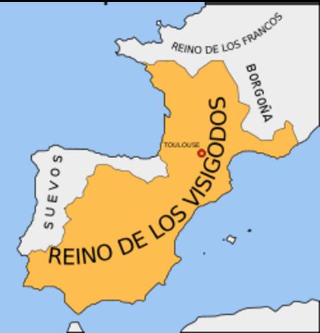 Alianza de Teodorico y los ostrogodos con los visigodos de España