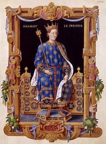 Sigiberto de Austria en guerra contra su hermano Chilperico.