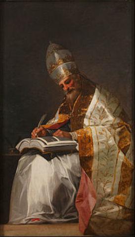 San Gregorio Magno, papa de Roma, comienzos de la política pontificia.