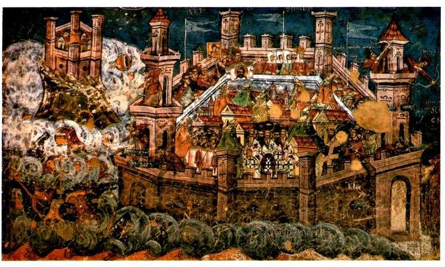 Los musulmanes son rechazados por los bizantinos, y tienen que levantar el sitio a Constantinopla.