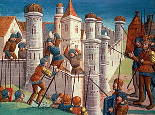 Los árabes islámicos ponen sitio a Constantinopla