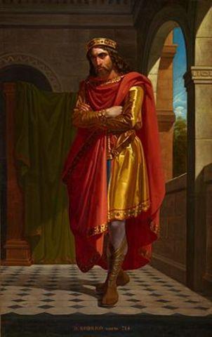Sube al trono Rodrigo, último rey de los visigodos.