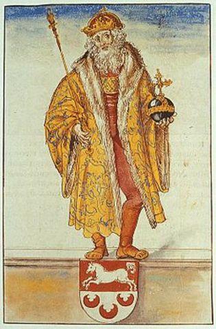 El Papa XII corona emperador a Otón I el Grande