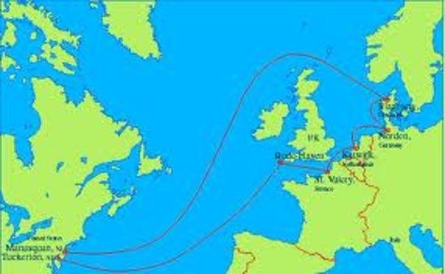 Se finaliza el cable TAT  submarino de comunicaciones entre EE.UU y Europa