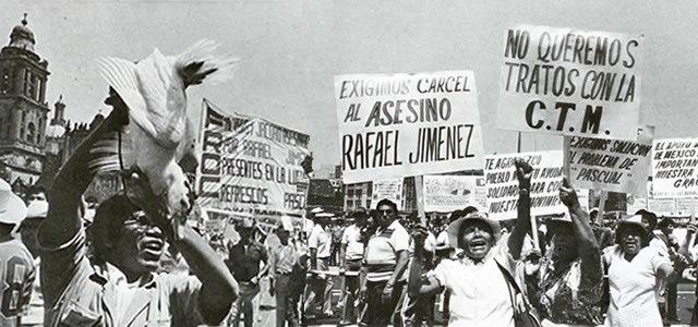 HUELGA DE TRABAJADORES EN REFRESQUERA PASCUAL 1982